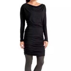Athleta Solstice Cowl Neck Black Dress